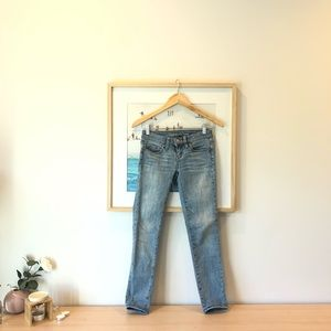 AE light blue straight jeans